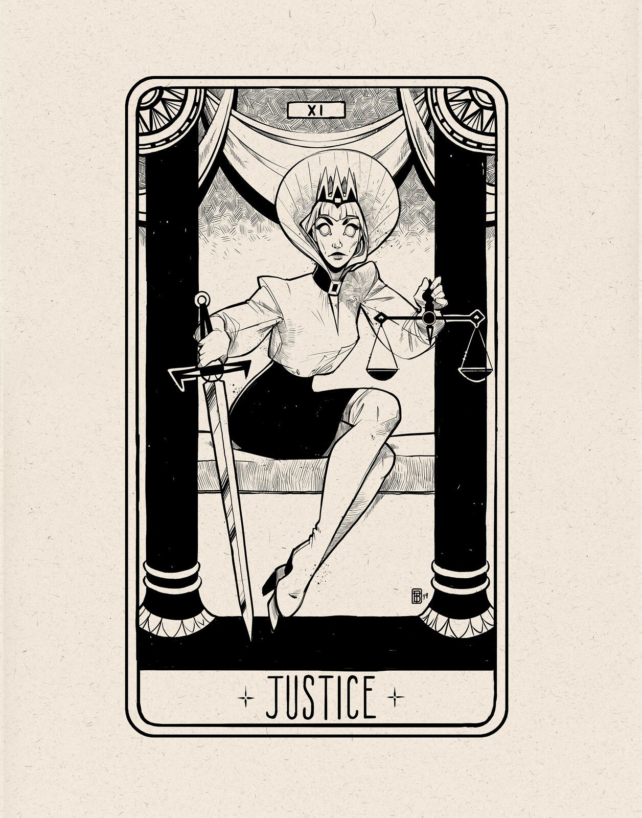 justice tarot card of the day