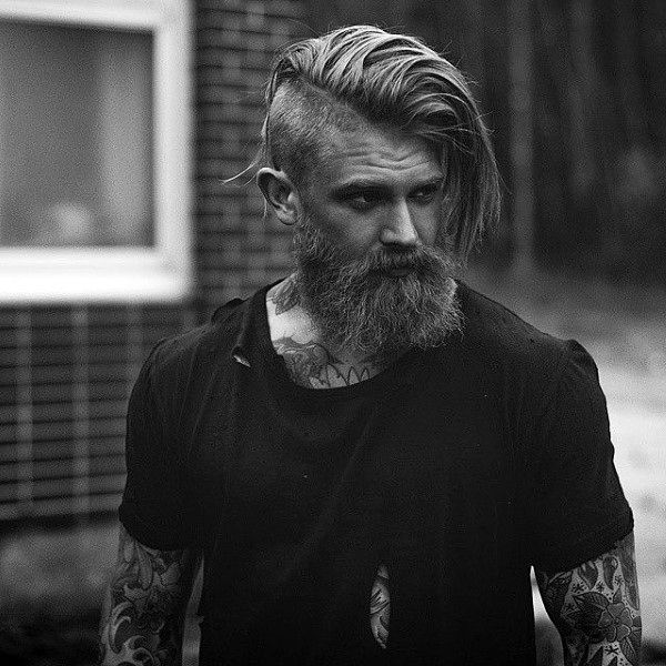 Mens Hairstyles With Beards hairstyles with beards mens hairstyles with beards best hairstyles with beard short hairstyles Undercut With Beard Haircut