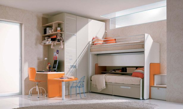 Colorful Girl Room Teenage Girls Bedroom Design With Orange Accents - Orange Bedrooms