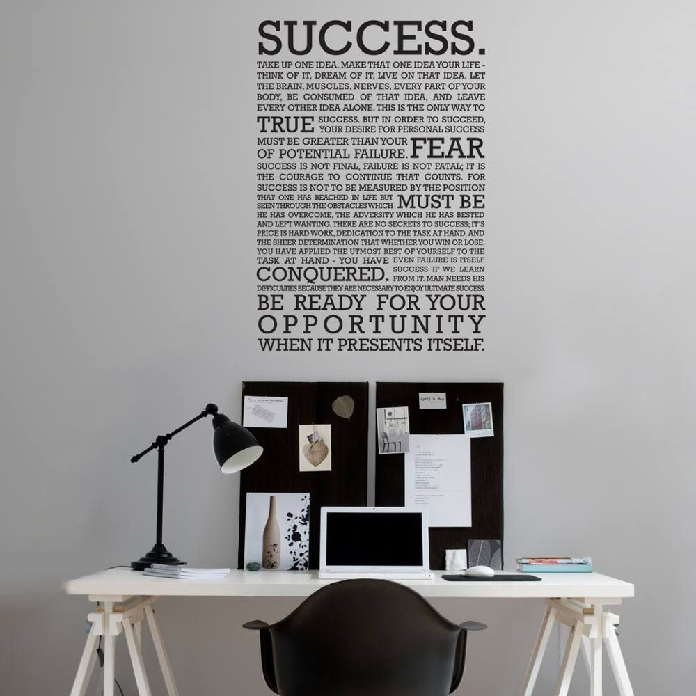 The Definition Of Success Wall Sticker
