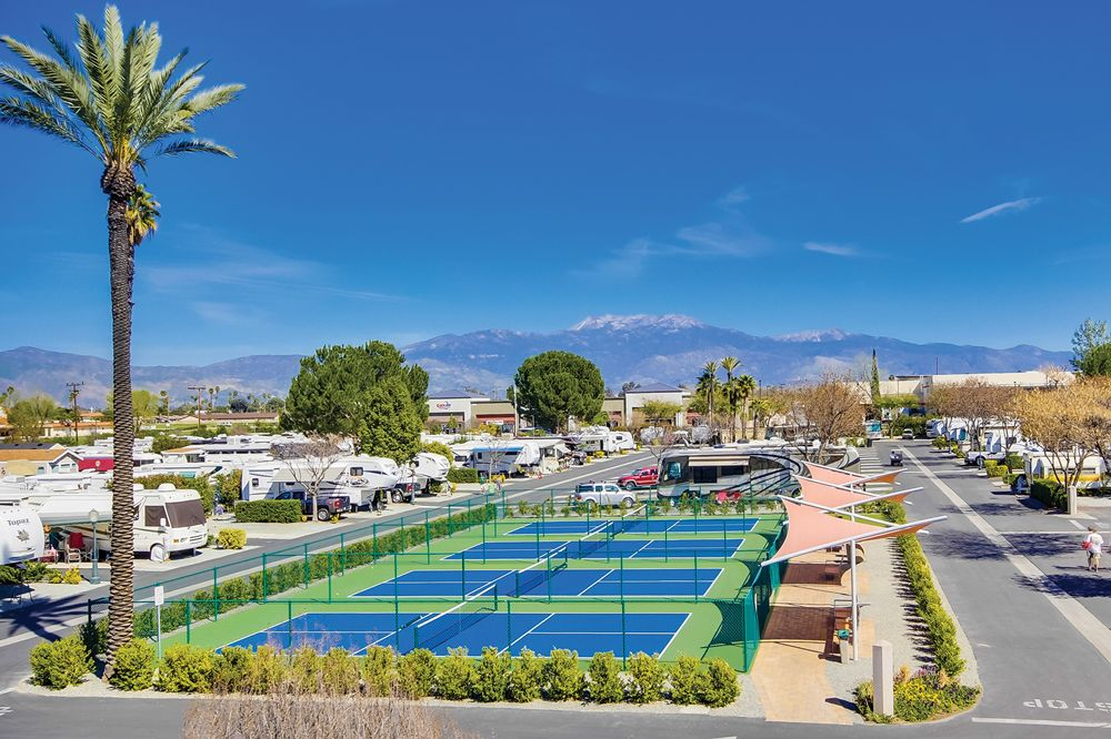 A Whole New Ballgame Pickleball Court Rv Parks And Campgrounds Camping Resort