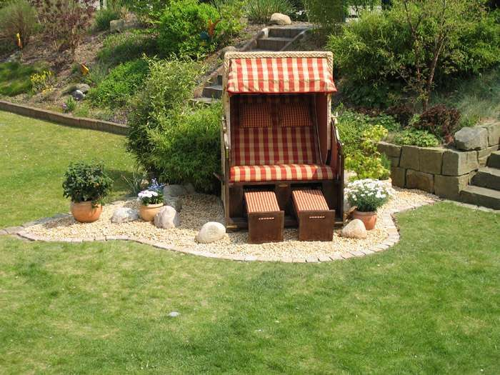 Luxus Strandkorb Im Garten Ideas