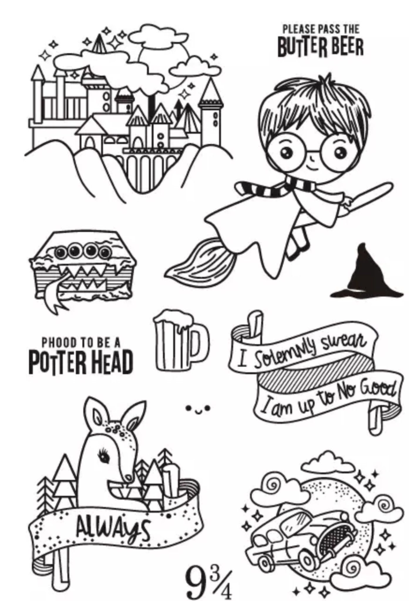 Clear Stamps In 2020 Harry Potter Drawings Easy Harry Potter Drawings Harry Potter Art Drawings