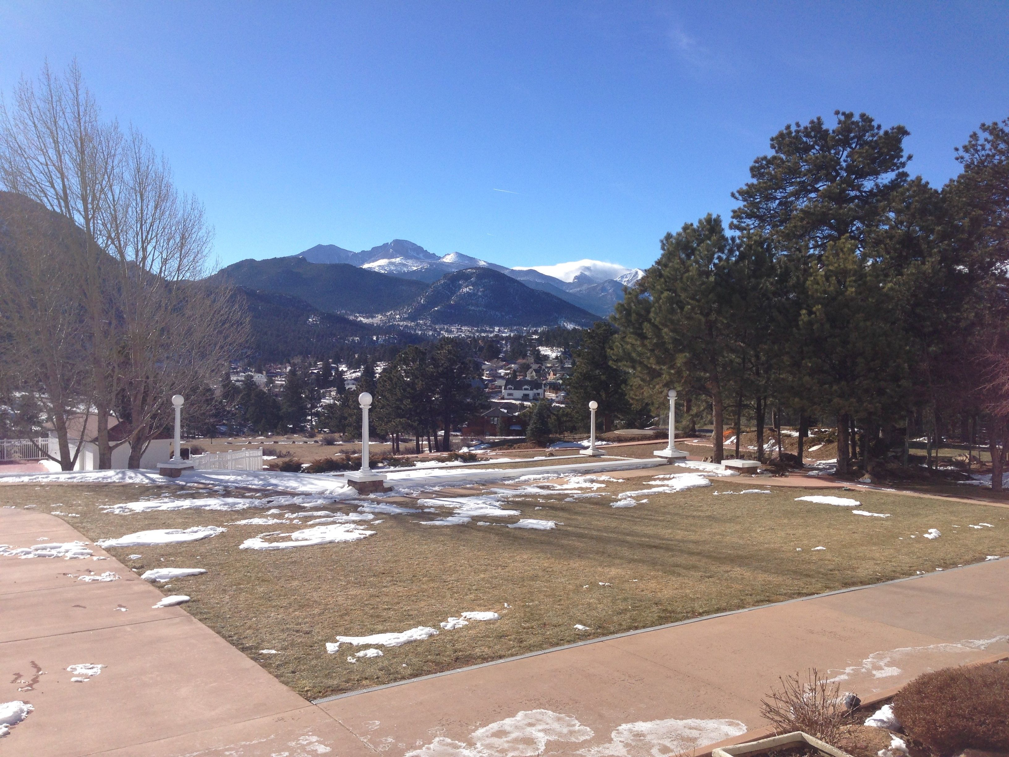 Beautiful Winter Day Stanley Hotel