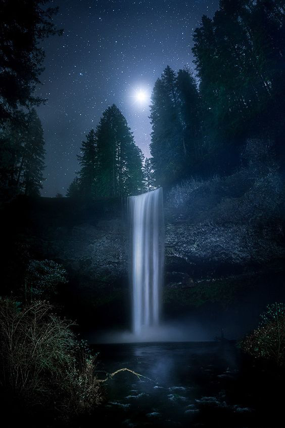 59 Amazing Mysterious Waterfall Landscapes Waterfall Natural Landscape Water Resources Famou Waterfall Landscape Waterfall Photography Night Sky Photography