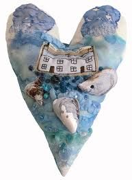 textile hearts - Google Search
