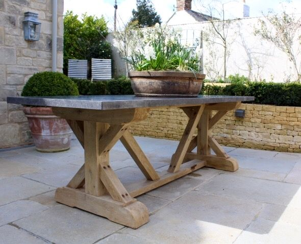 Hand Crafted Oak Table with Belgian Blue Stone tops | furniture ...