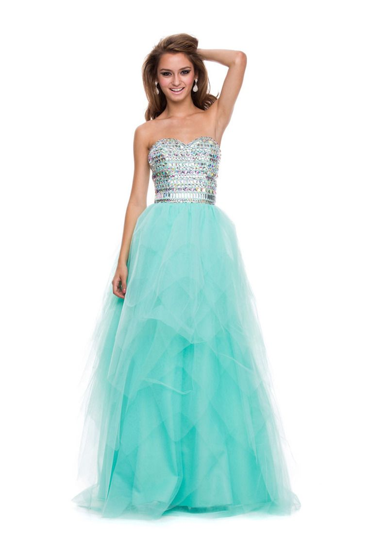 sweetheart rhinestone beaded bodice a line prom dress corset