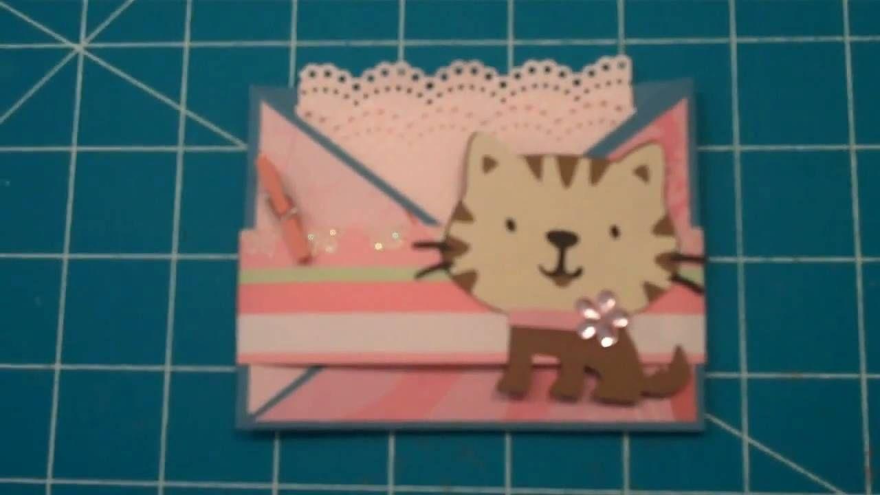Cricut Create a Critter Cat + Reindeer Gift Card holder