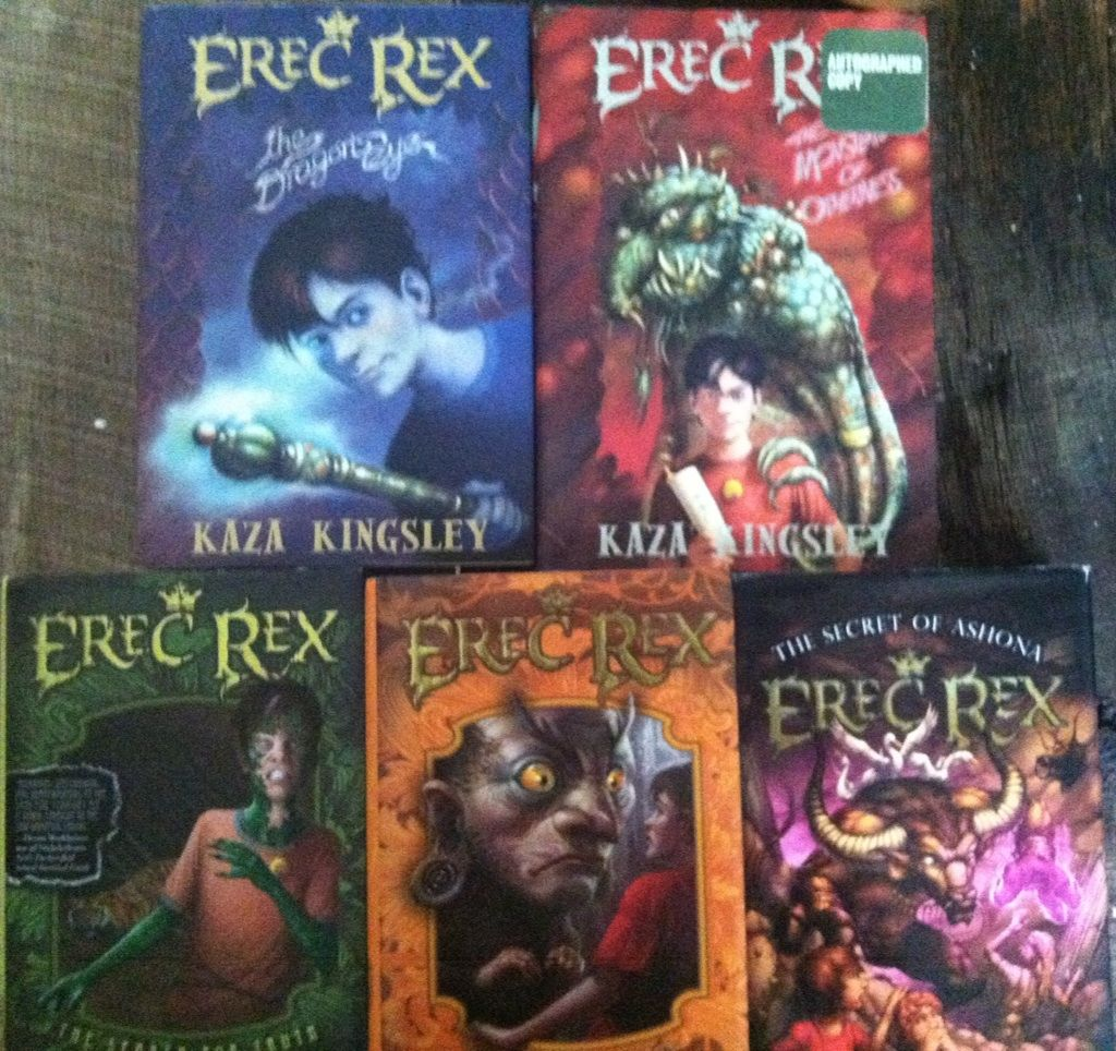 The Erec Rex series by Kaza Kingsley is excellent! If you need a  replacement for your children when they finish with Harry Potter, then try  this series.