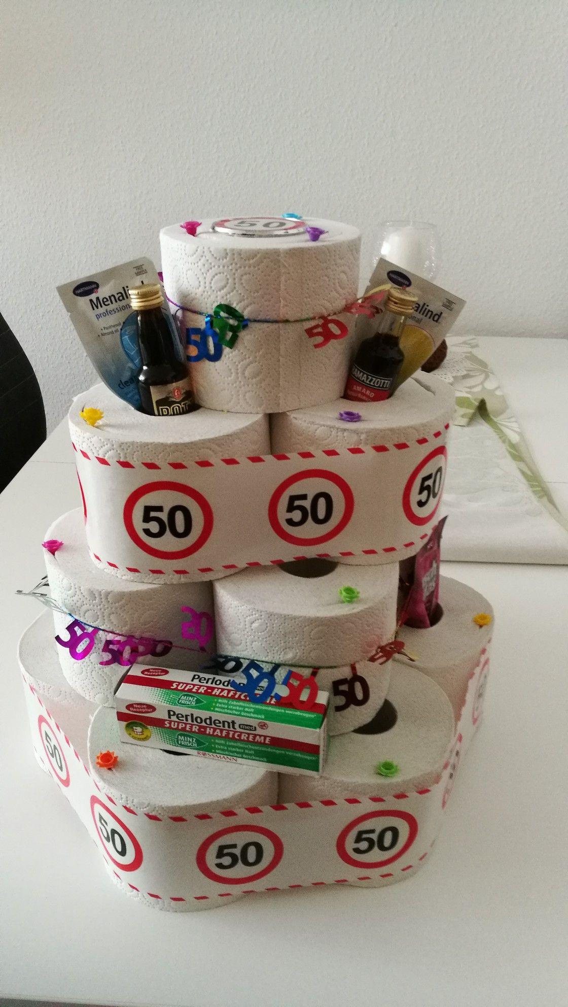 Klopapiertorte 50 Geburtstag Klopapiertorte Geschenke Zum