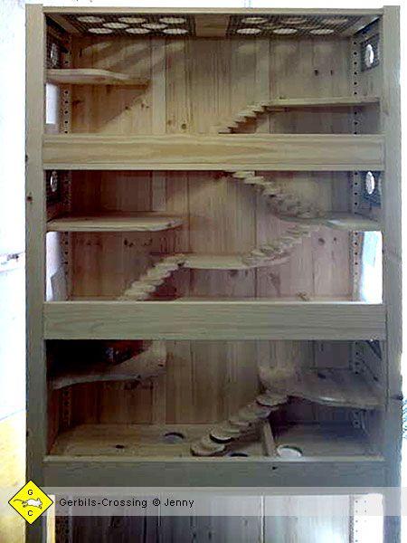 Nagerheim Terrarium Fur Wustenrennmause Umgebautes Regal