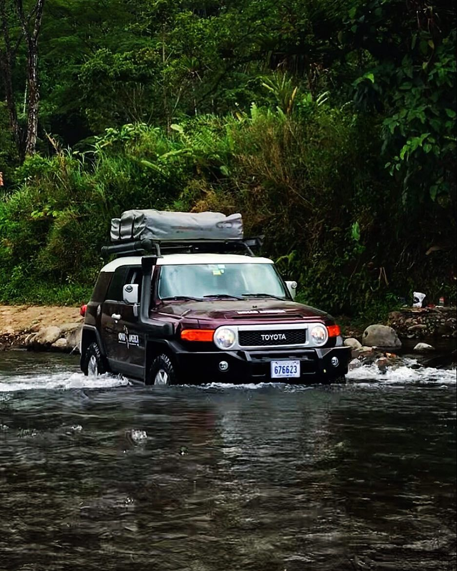 Driving In Costa Rica S River Crossing Off Roads In A 4wd And Rooftop Tent Costarica Travel Nomad Overlanding 4wd Adventure Vanlife Road Van Life Costa