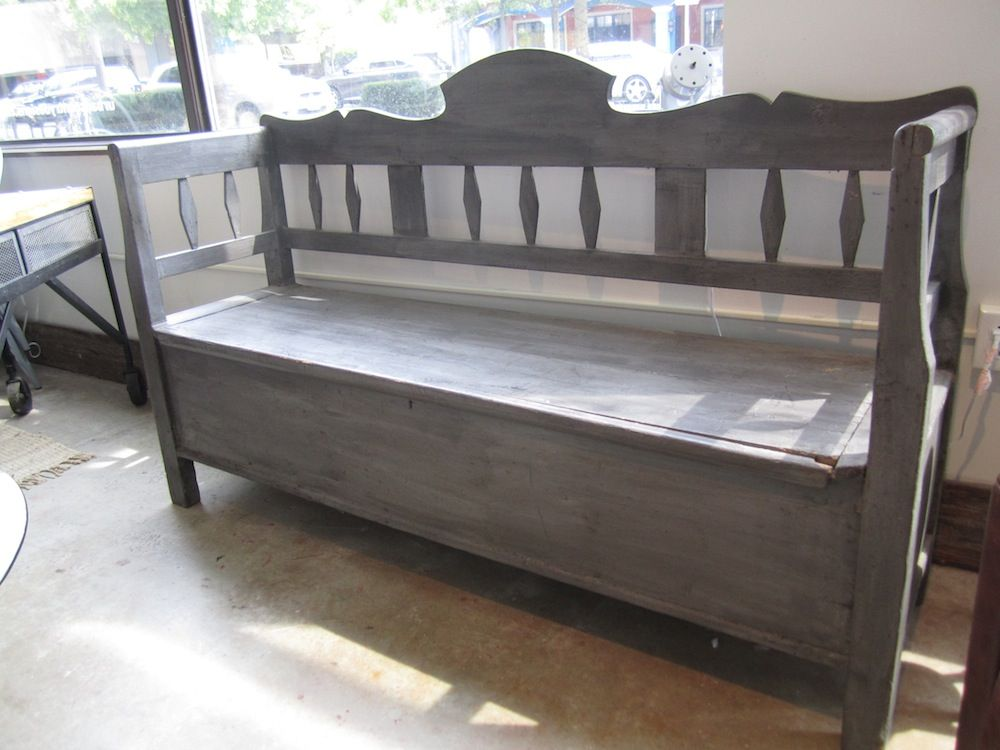 Antique Bench With Storage Vintage Storage Bench Hallways Stairways Pinterest Grey Wash