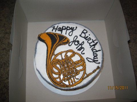 Top View Of French Horn Cake Cakes I Have Made In 2019