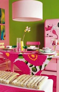 It would be so fun to decorate with pink, but it would not go over in this house!