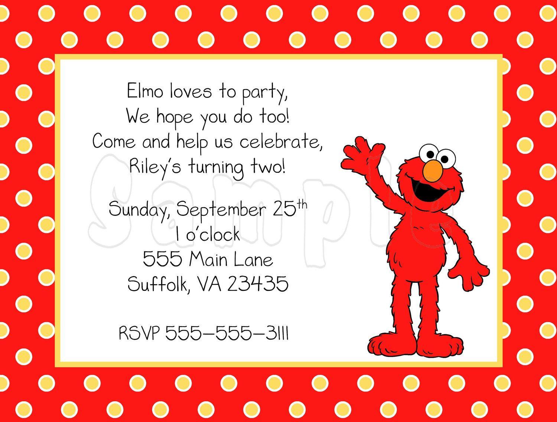 10 Polka Dots Elmo Invitations With Envelopes Free Return Etsy Elmo Birthday Invitations Elmo Invitations Elmo Birthday
