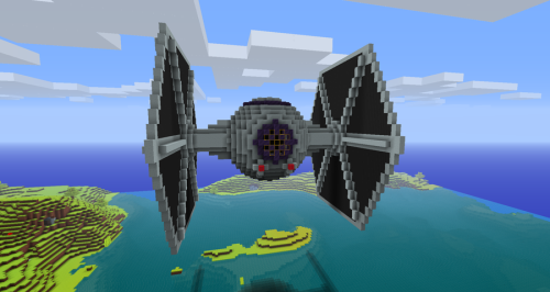 The Tie Starfighter Minecraft Cool build. | Minecraft | Pinterest