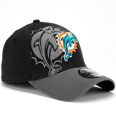 fanatics New Era Miami Dolphins 39Thirty Classic Flex Hat - Black ...