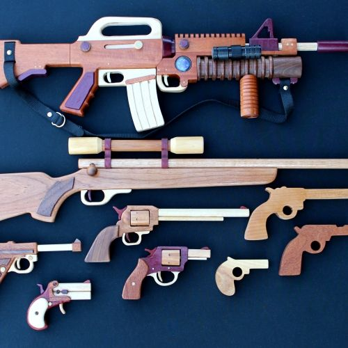full weapons package woodworking plan wooden toy guns. Black Bedroom Furniture Sets. Home Design Ideas