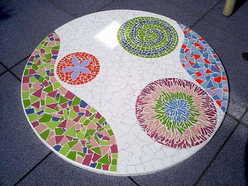Mesa de mosaico vitrales pinterest mesa de mosaico for Mesas de mosaico
