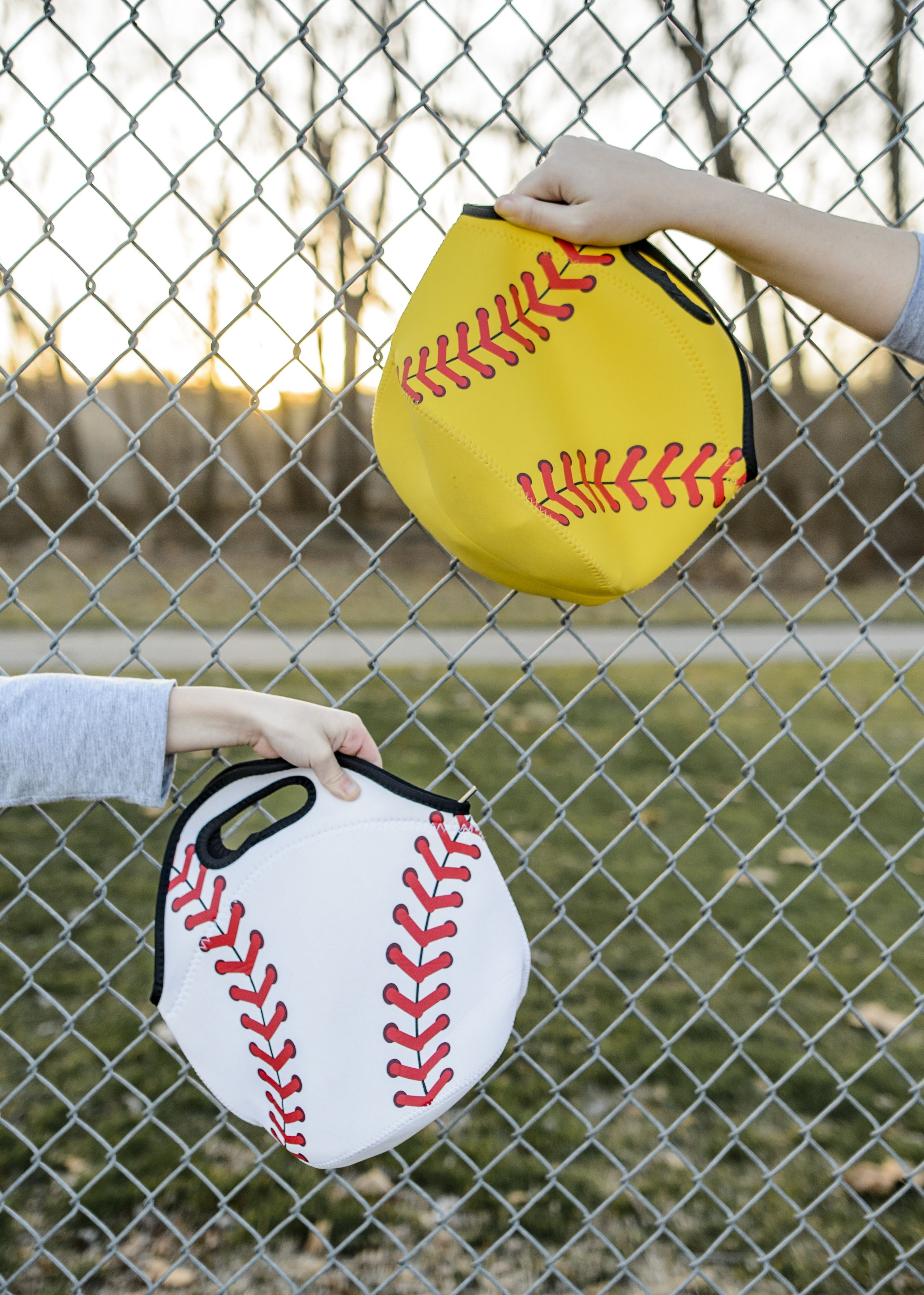 Baseball and softball insulated lunch bags are a fun twist