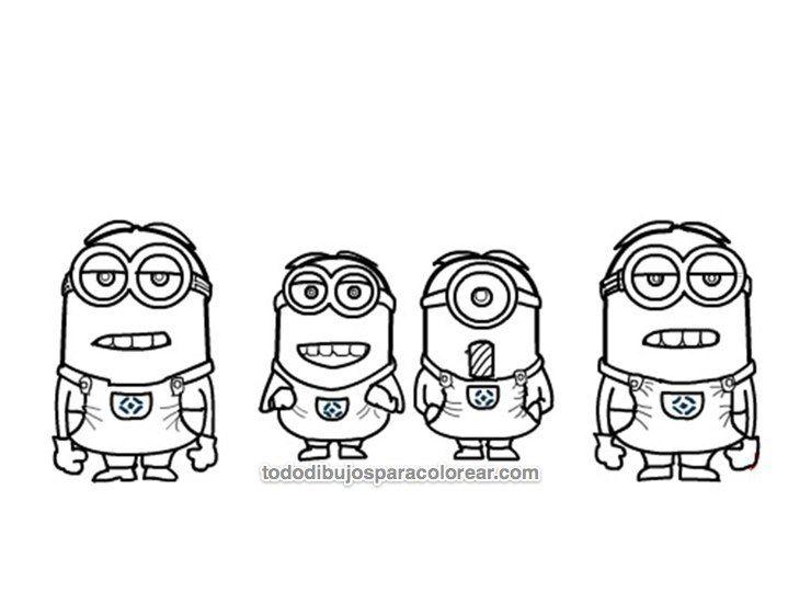 Image result for dibujos de minions para colorear | My Saves ...