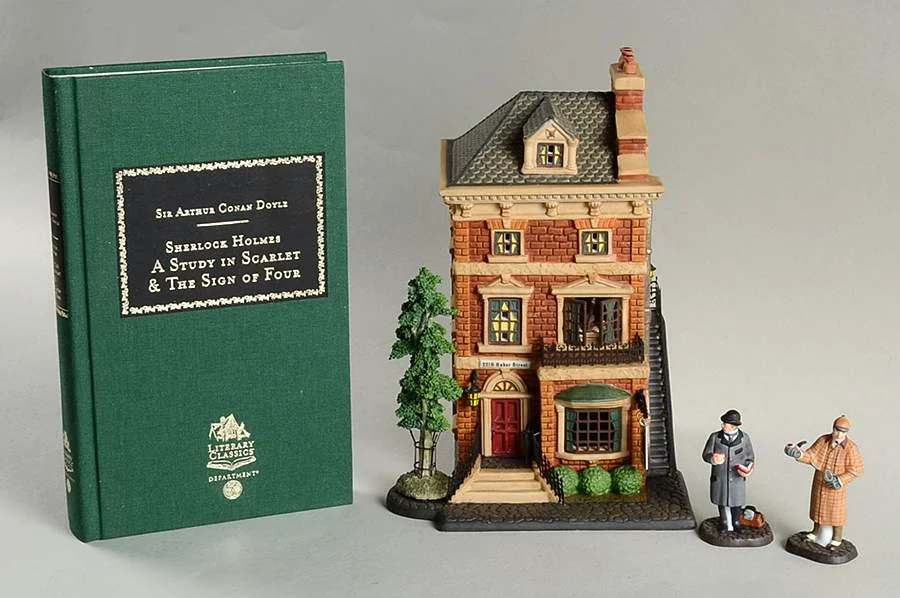 Literary Classics Sherlock Holmes 221b Baker St - Boxed by Department 56 | Replacements, Ltd. #department56