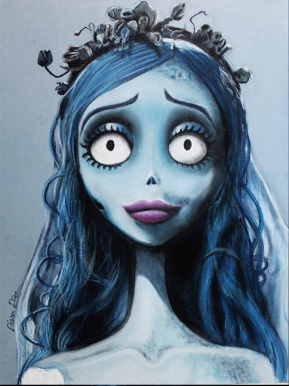 Drawing Of Emily Inspired By The Movie The Corpse Of The Bride Made By Diana Diaz On Youtube Corpse Bride Art Tim Burton Corpse Bride Emily Corpse Bride