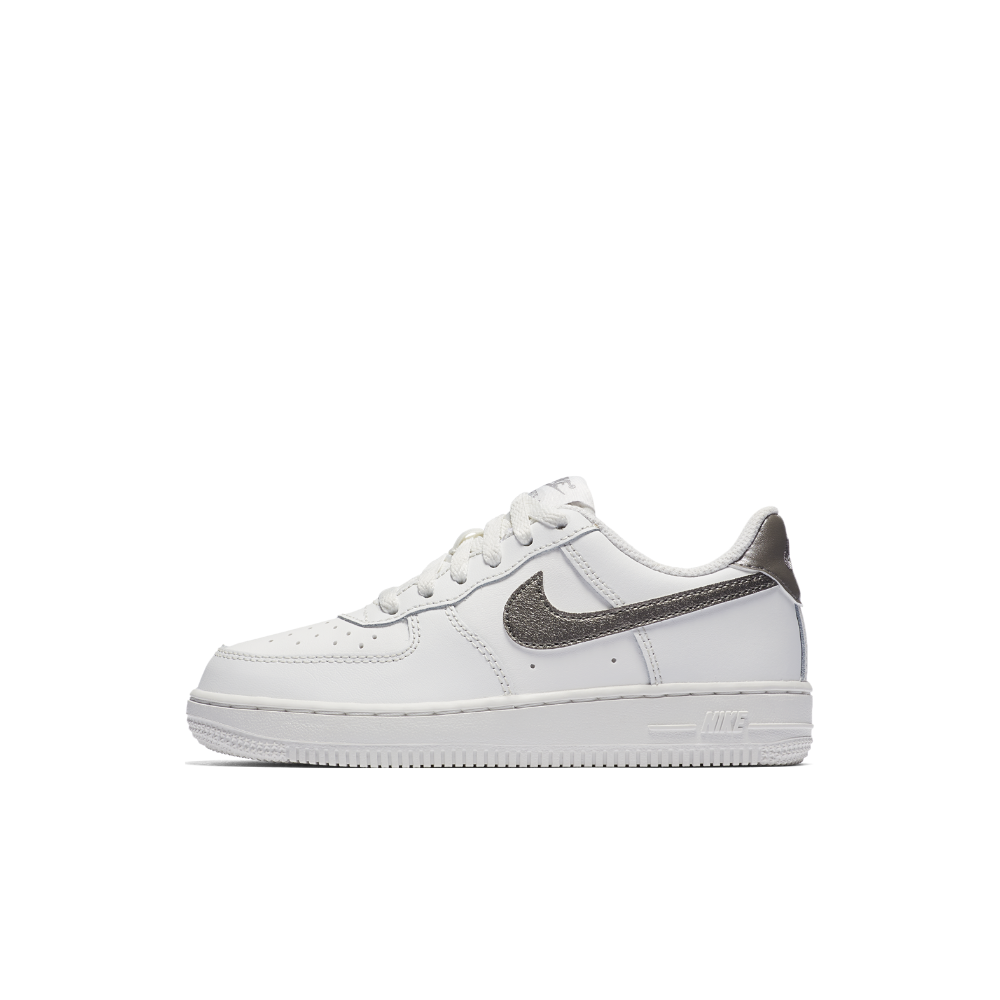 big sale 2bee7 03ef0 Nike Air Force 1 Low Pre-School Girls Shoe Size 13C (White)