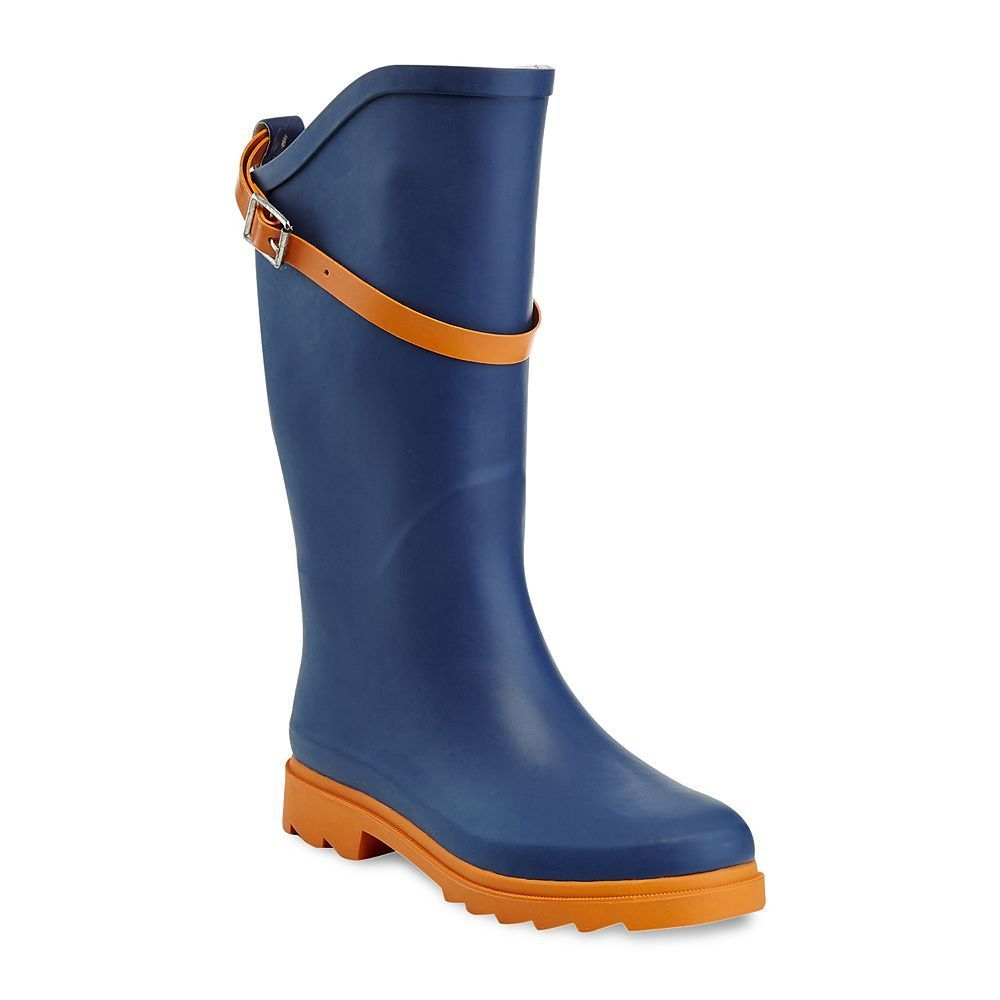 Henry Ferrera Nuface Women's ... Water-Resistant Two-Tone Rain Boots 5eR1OZepyo