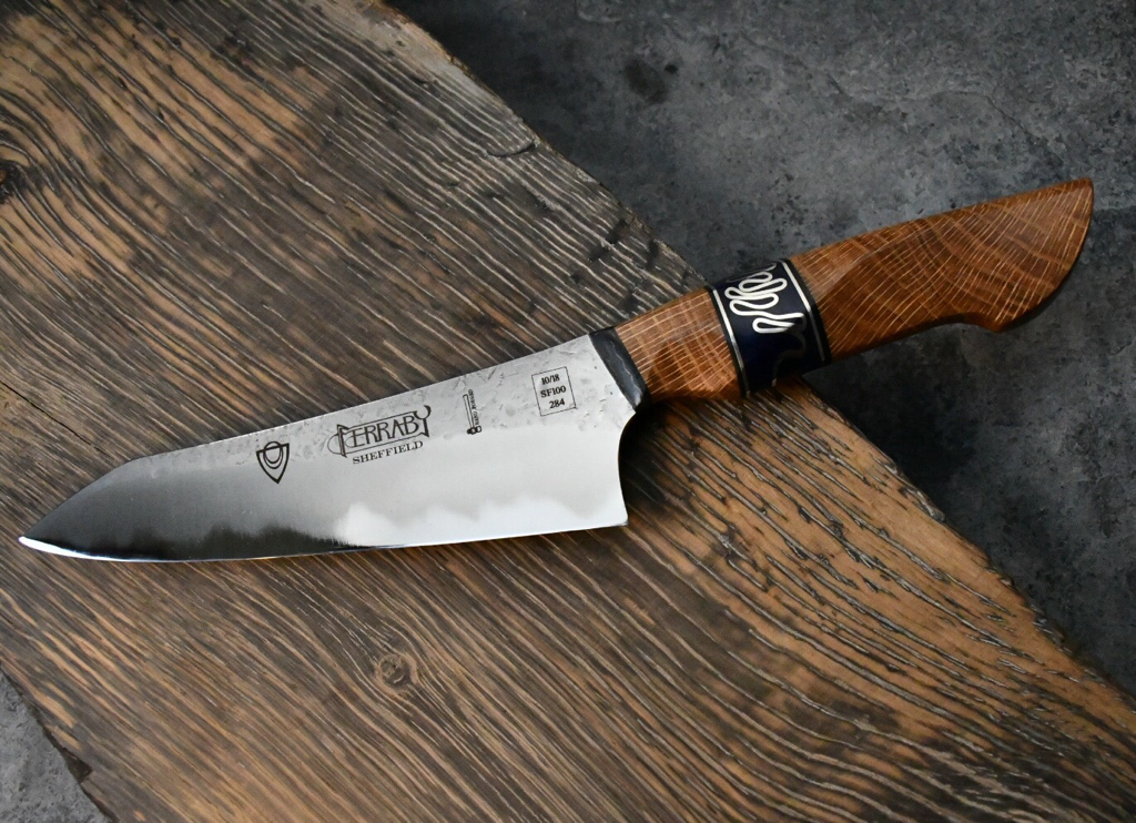 handmade kitchen knives uk handmade kitchen knife with welsh oak handle made by will ferraby 299