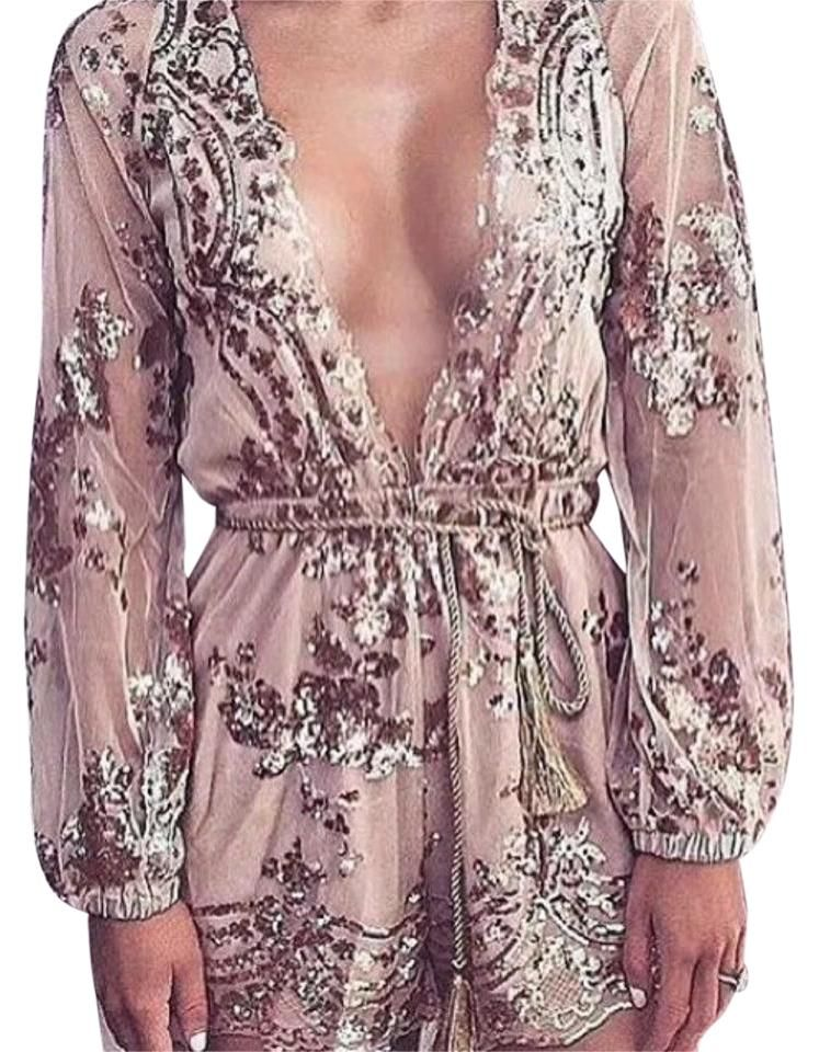 3f8d217e5f82 Rose Gold Elegant Sequin Romper Jumpsuit. Free shipping and guaranteed  authenticity on Rose Gold Elegant Sequin Romper Jumpsuit at Tradesy.