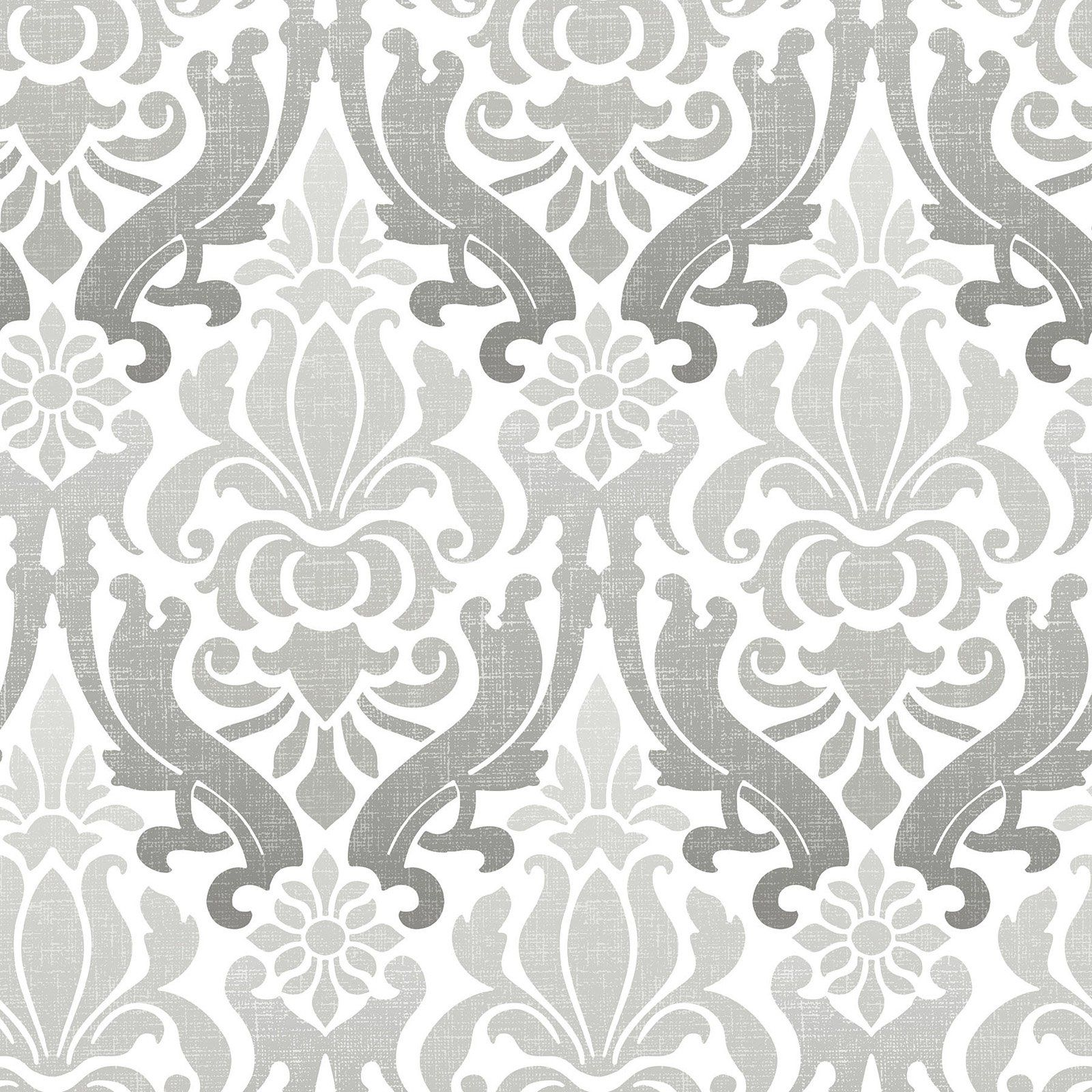 Brewster Nouveau Damask Peel And Stick Wallpaper In 2020 Nuwallpaper Silver Wallpaper Peel And Stick Wallpaper