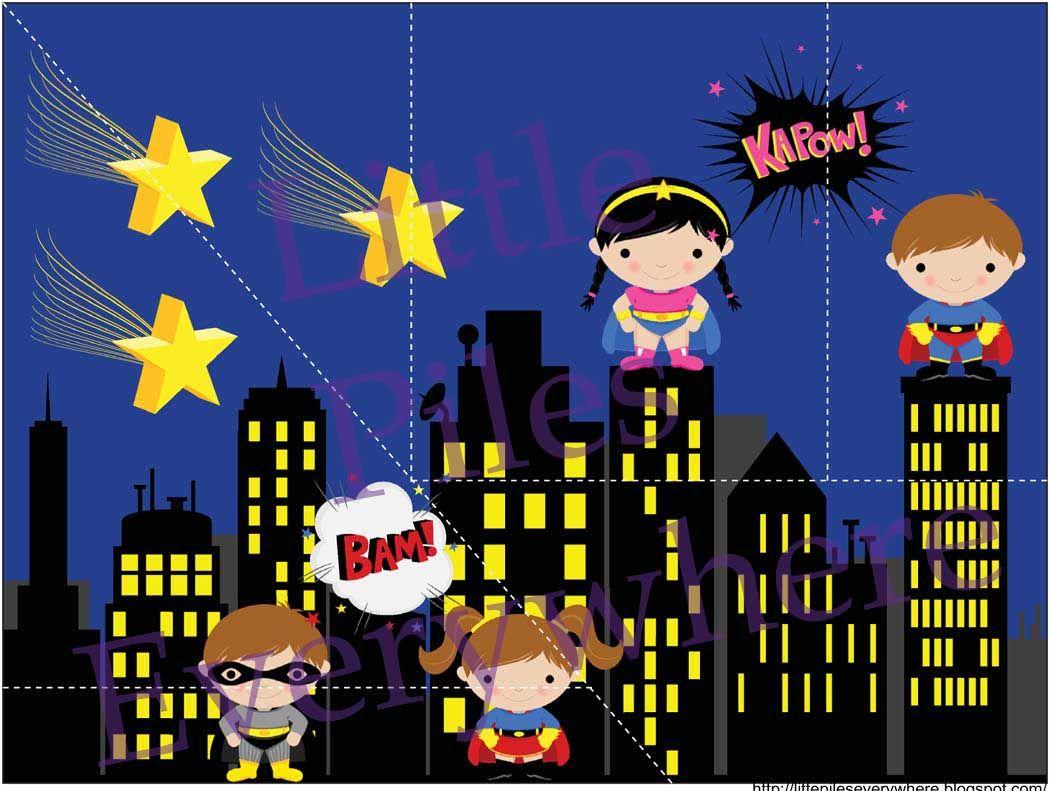 Superhero Puzzle Intergalactic Evening Superheroes