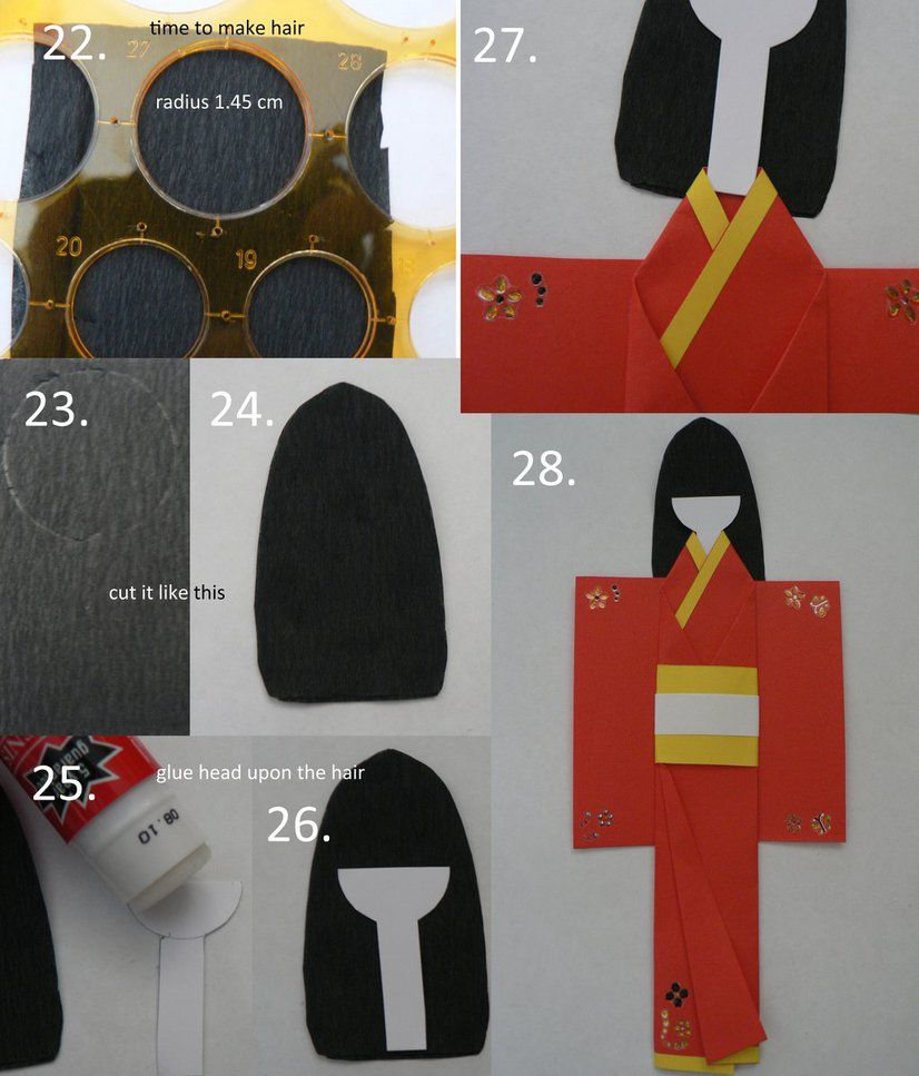 japanese paper doll tutorial 4 japanese paper