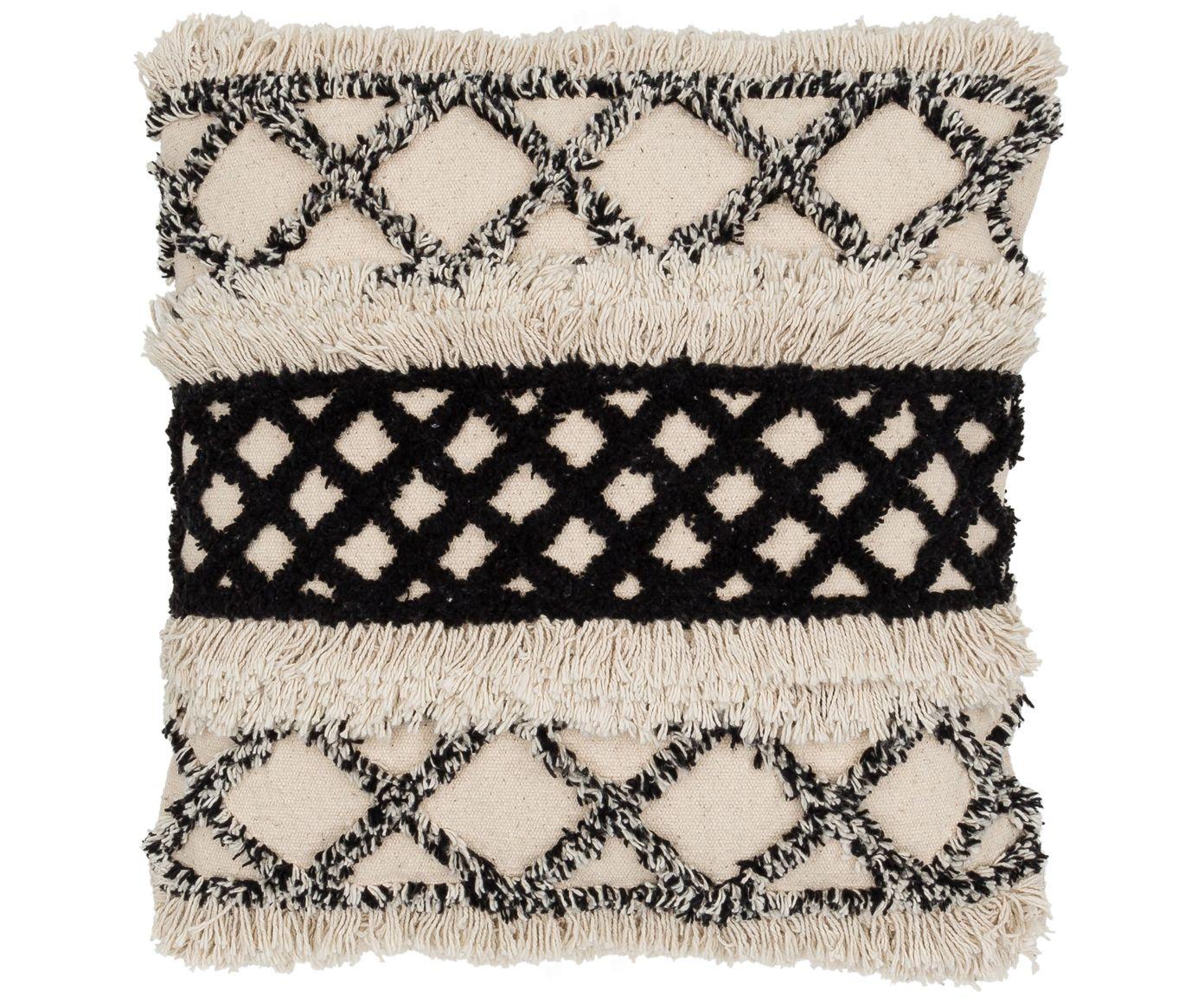 Mit Kissen Woolly in Gebrochenes Weiß, Schwarz von HD