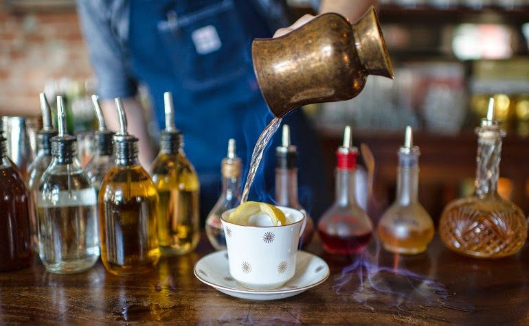 Earl grey bourbon cocktail