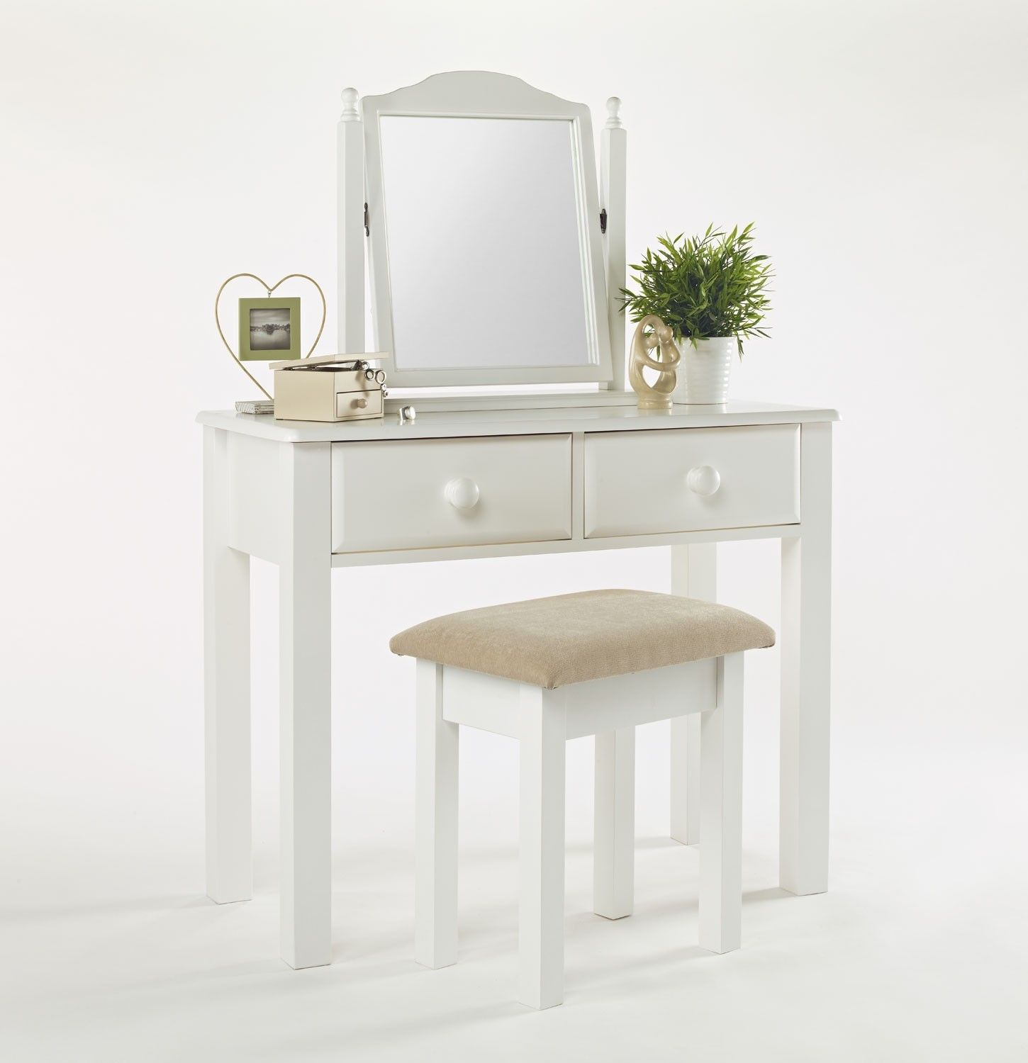 small vanity table without mirror. modern style furniture for the bedroom white wood  Small White Dressing dressing table