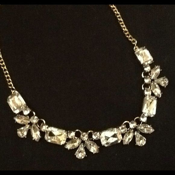Crystal statement necklace. Holiday sparkle, everyday shine! Great with denim or cashmere! Jewelry Necklaces