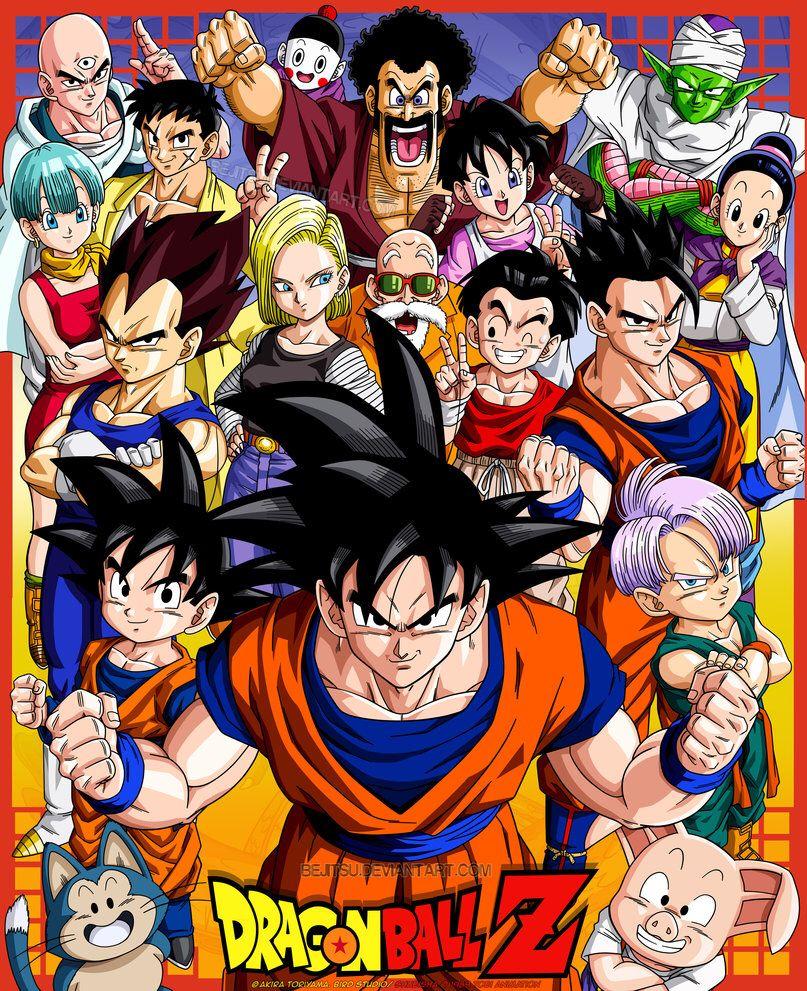 Goku and friends by bejitsu on deviantart dragon ball z
