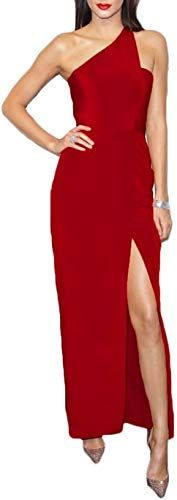 Buy Ri Yun Sexy One Shoulder Backless High Slit Mermaid Prom Dresses Long Evening Gowns 2018 Formal Cocktail Dresses For Women online #backlesscocktaildress
