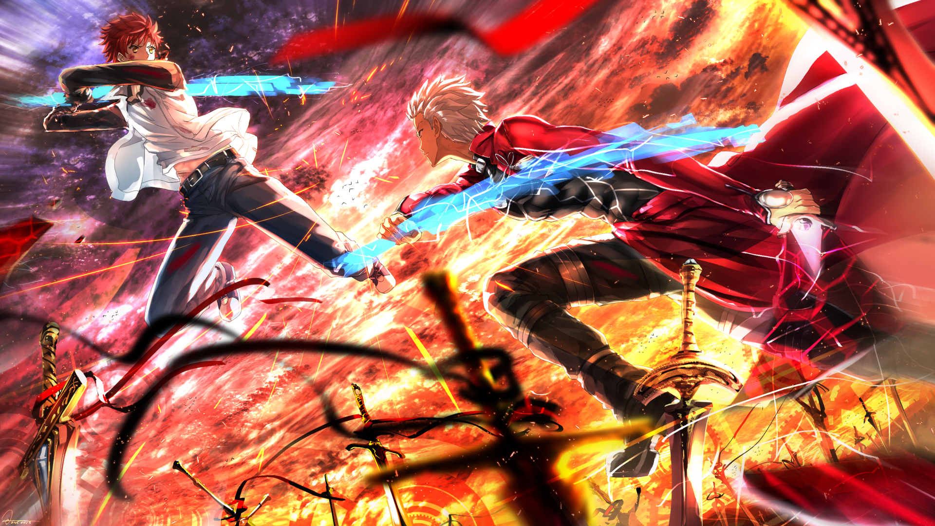 Anime Fate Stay Night Unlimited Blade Works Shirou Emiya Archer