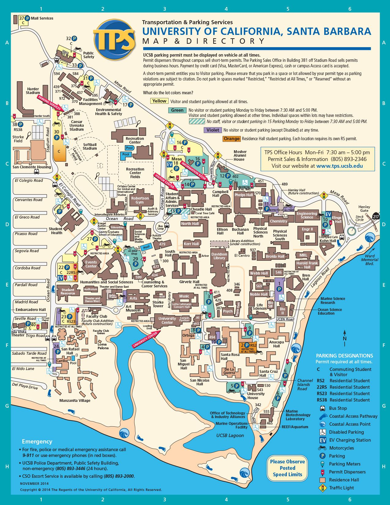 Ucsb Campus Map Santa Barbara Trip Campus Map University Of