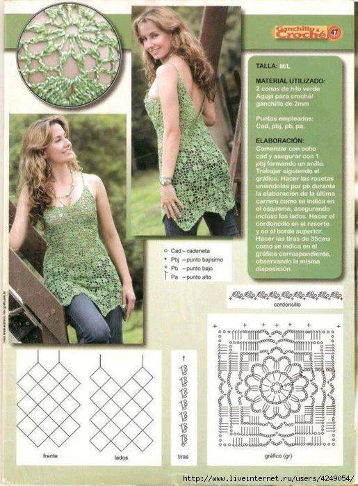 Pin de Corina Diaz en Tejidos lindos | Pinterest | Blusas, Blusas de ...
