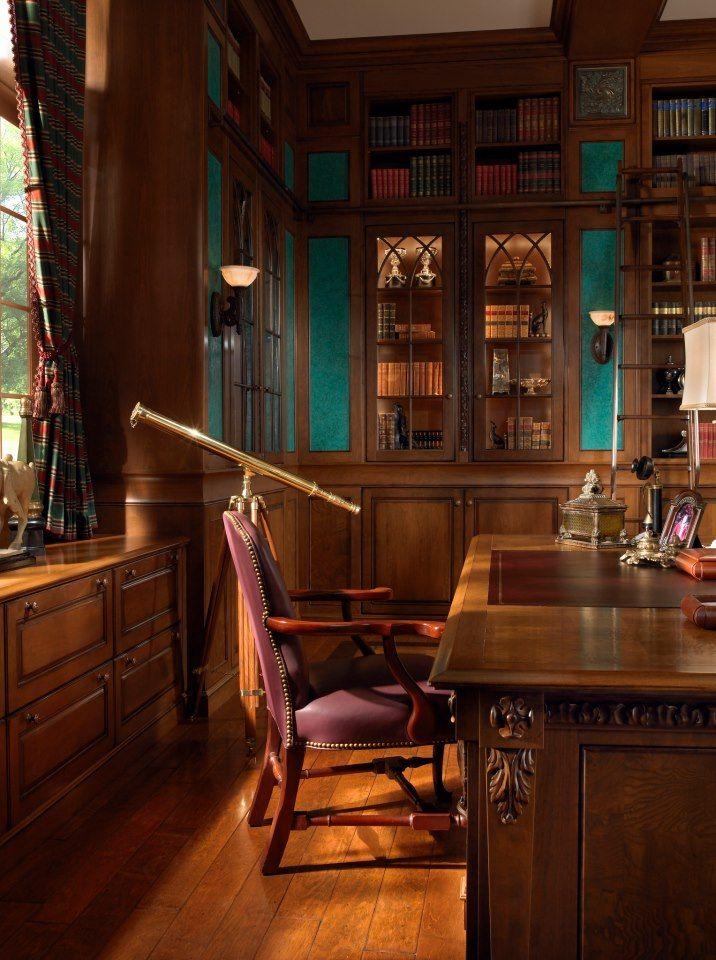 Olkd Study Room: Every Home Office Needs A Telescope