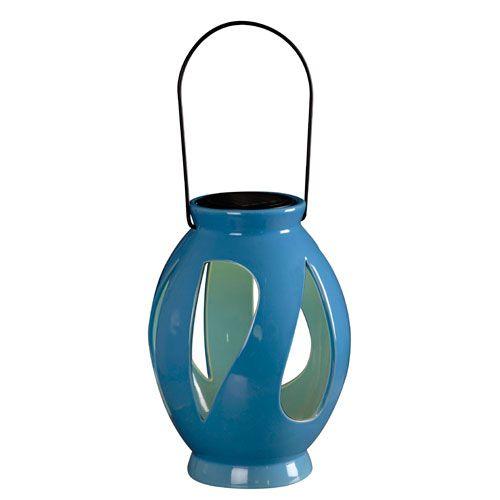 Leaves Blue Solar Lantern Lanterns