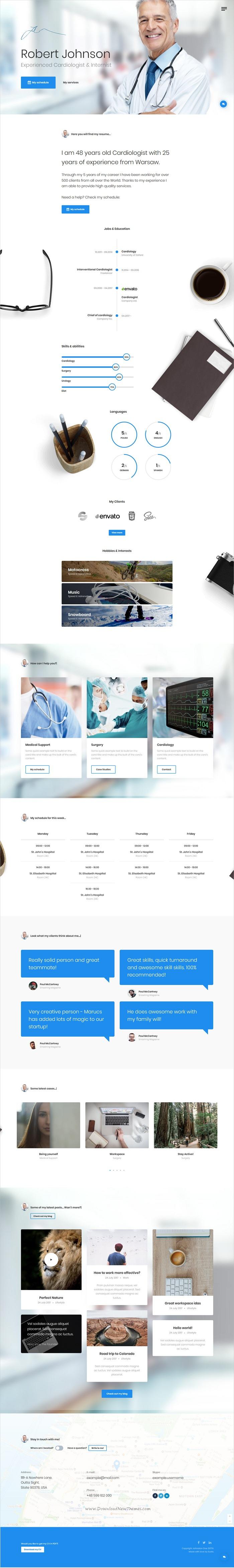 Nett One Page Vcard Lebenslauf Portfolio Website Vorlage Fotos ...
