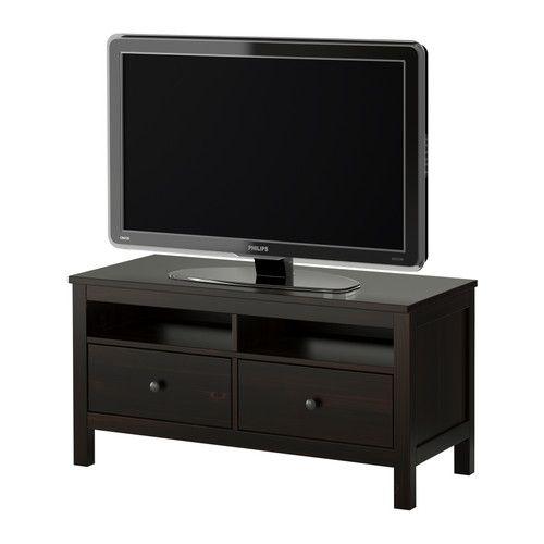 HEMNES Mueble TV - negro-marrón - IKEA