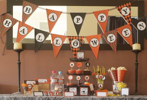 Halloween Birthday Banner Cupcakes Pinterest Halloween